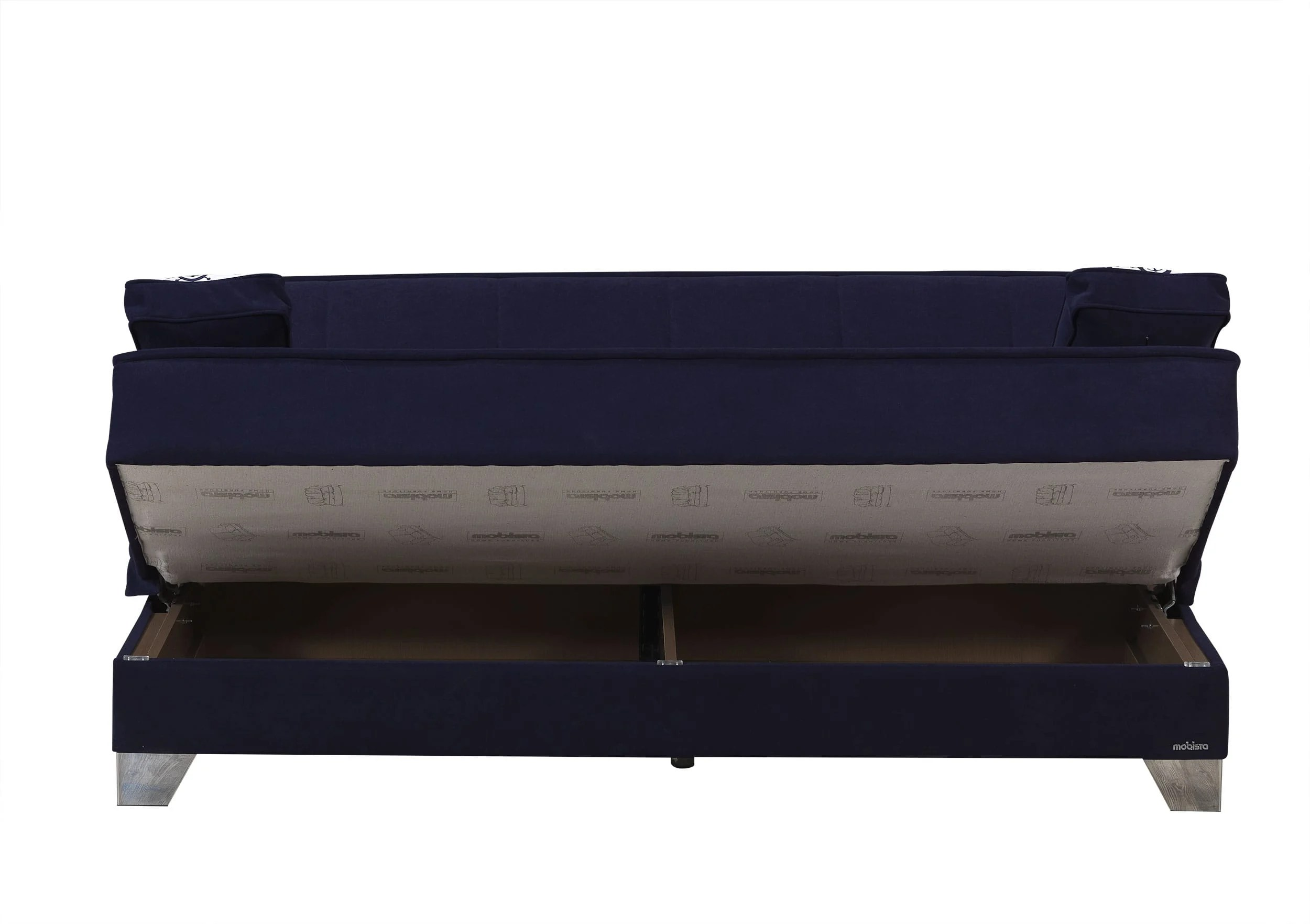 navy blue sofa bed uk how to clean microfiber with windex baci living room