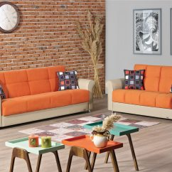 Orange Fabric Sectional Sofa Leather Sofas Costa Blanca Pacific Bed By Empire Furniture Usa