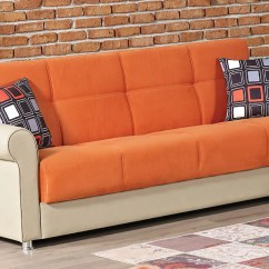Orange Fabric Sectional Sofa Benson The Brick Pacific Bed By Empire Furniture Usa