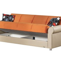 Orange Fabric Sectional Sofa Elegant Leather Pacific Bed By Empire Furniture Usa