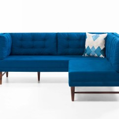 Blue Fabric Recliner Sofa Best Way To Wash Cushions Point Sectional By Empire Furniture Usa