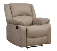 Parker Reclining Convertible Chair Beige by Lifestyle