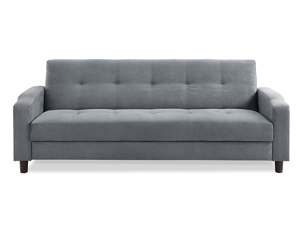 sofa convertibles sure fit slipcovers duck cover reno convertible dark grey by serta lifestyle