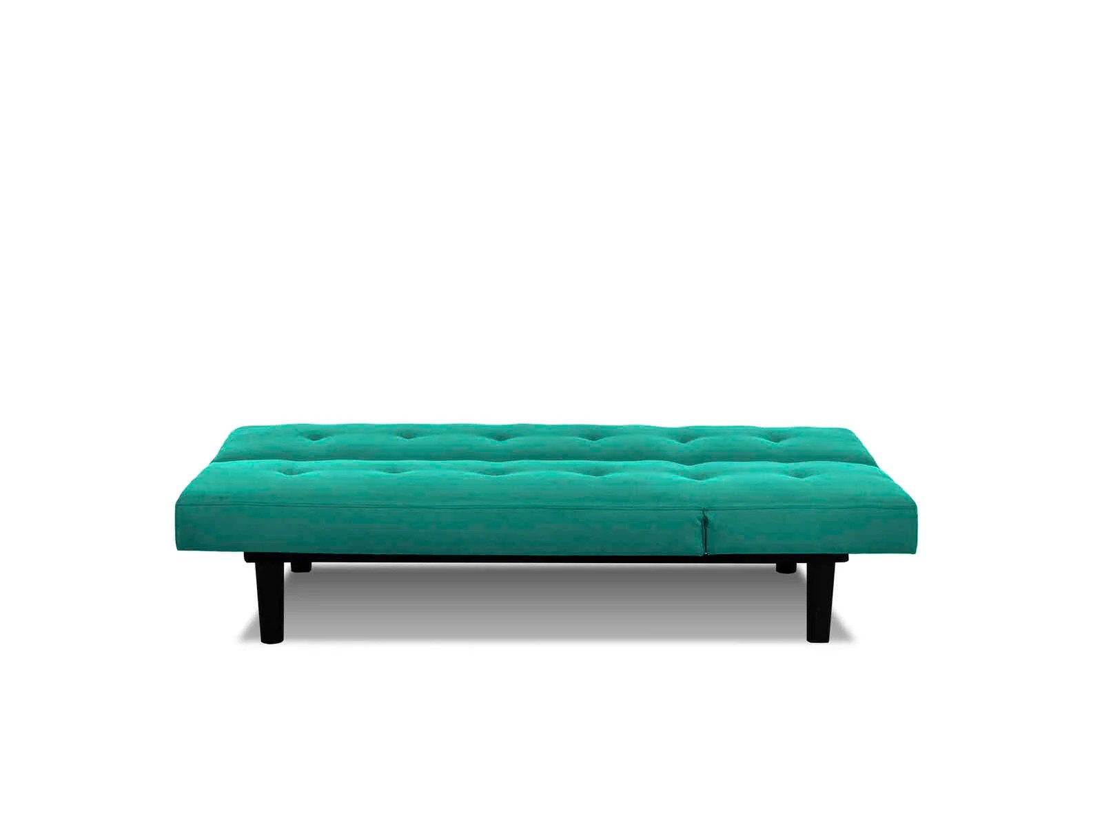 convertible futon sofa bed lounger corinthian mini teal by serta lifestyle