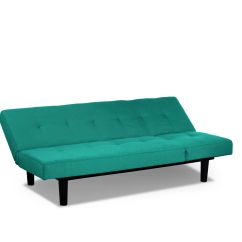 Convertible Futon Sofa Bed Lounger Most Comfortable Cheap Sofas Mini Teal By Serta Lifestyle