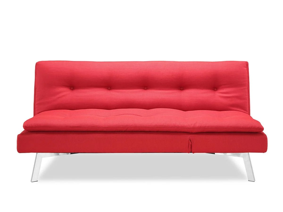 sealy living room furniture diy makeover shelby convertible sofa bed red by lifestyle solutions