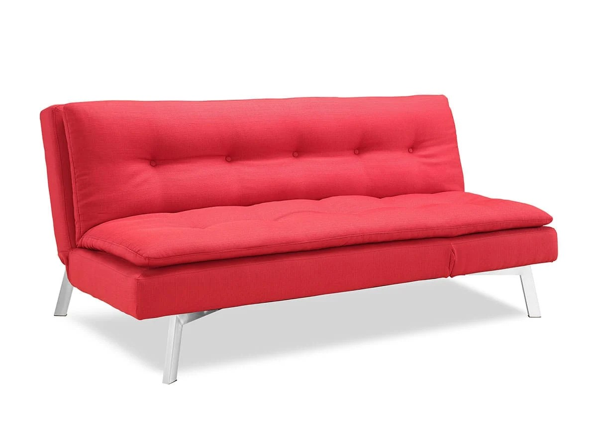 Shelby Convertible Sofa Bed Red By Lifestyle Solutions