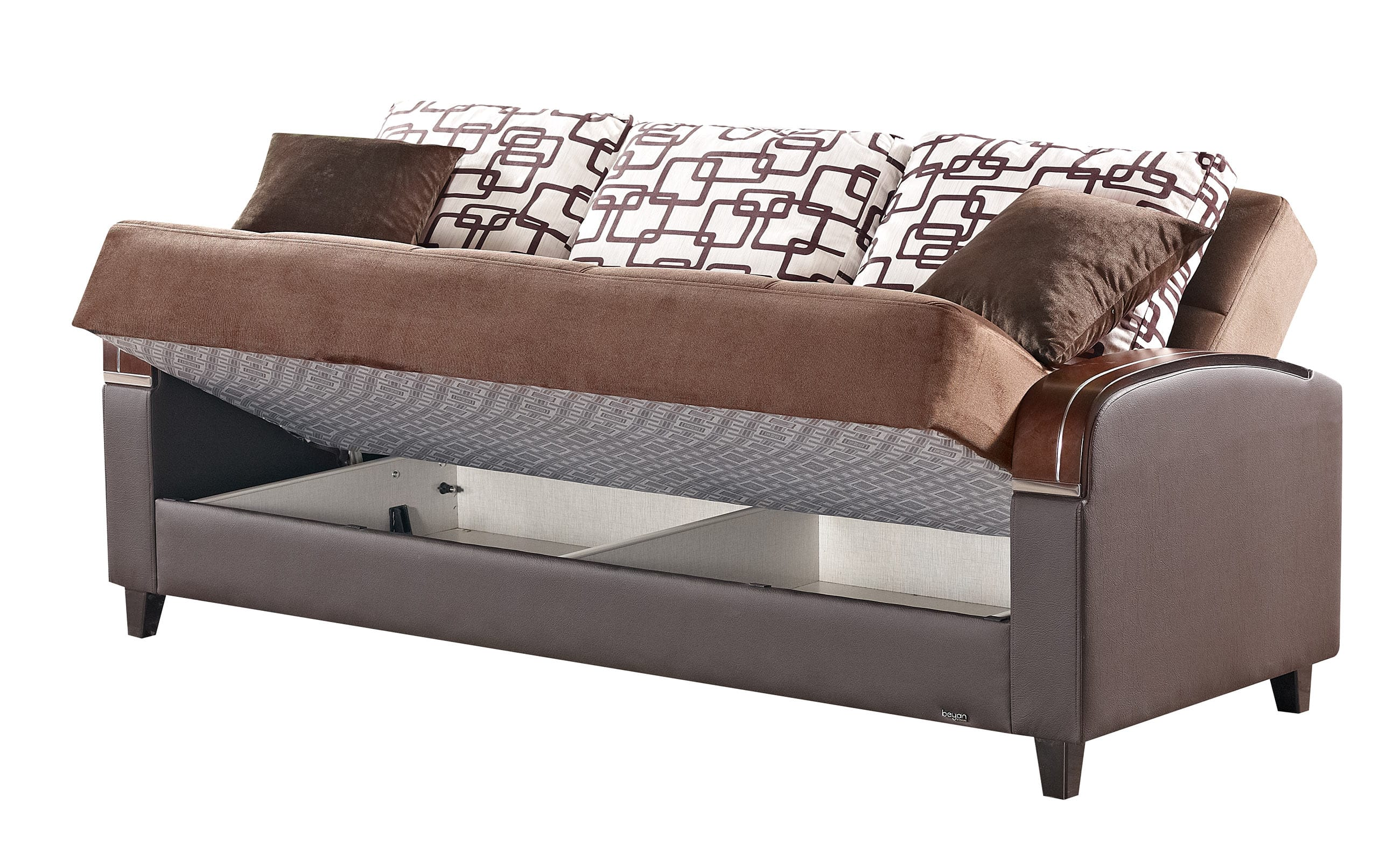 sofa warehouse nyc decoro soho brown fabric bed by empire furniture usa