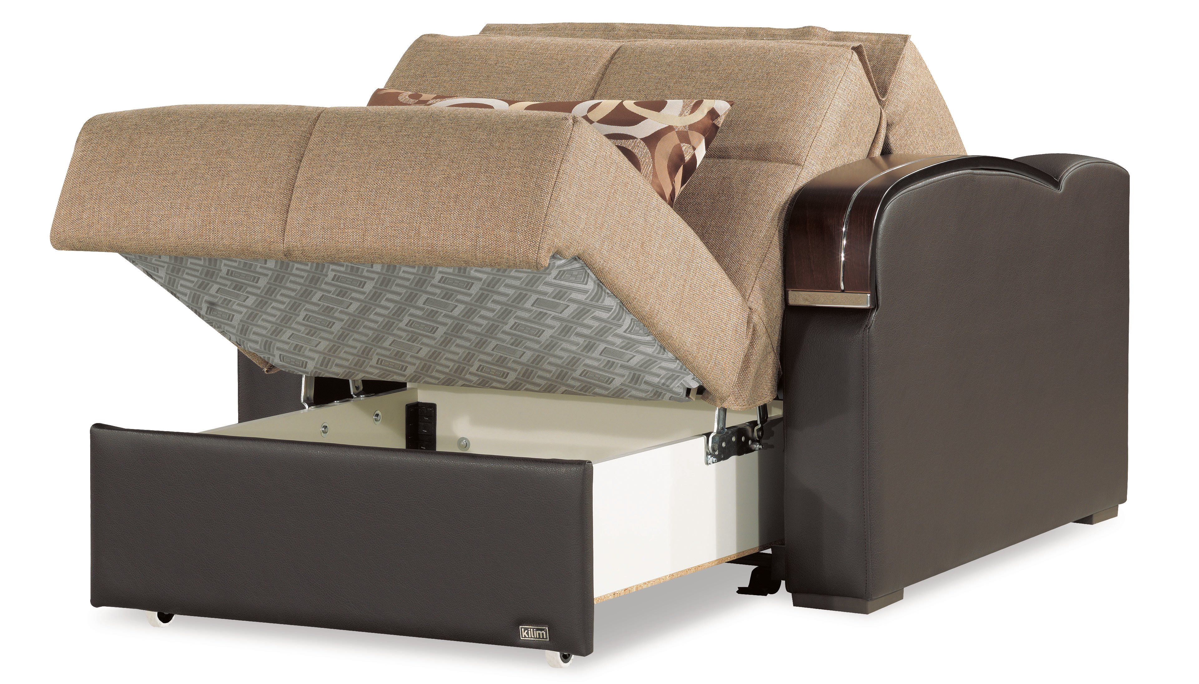 chair to bed convertible outdoor relaxer sleep plus brown by casamode