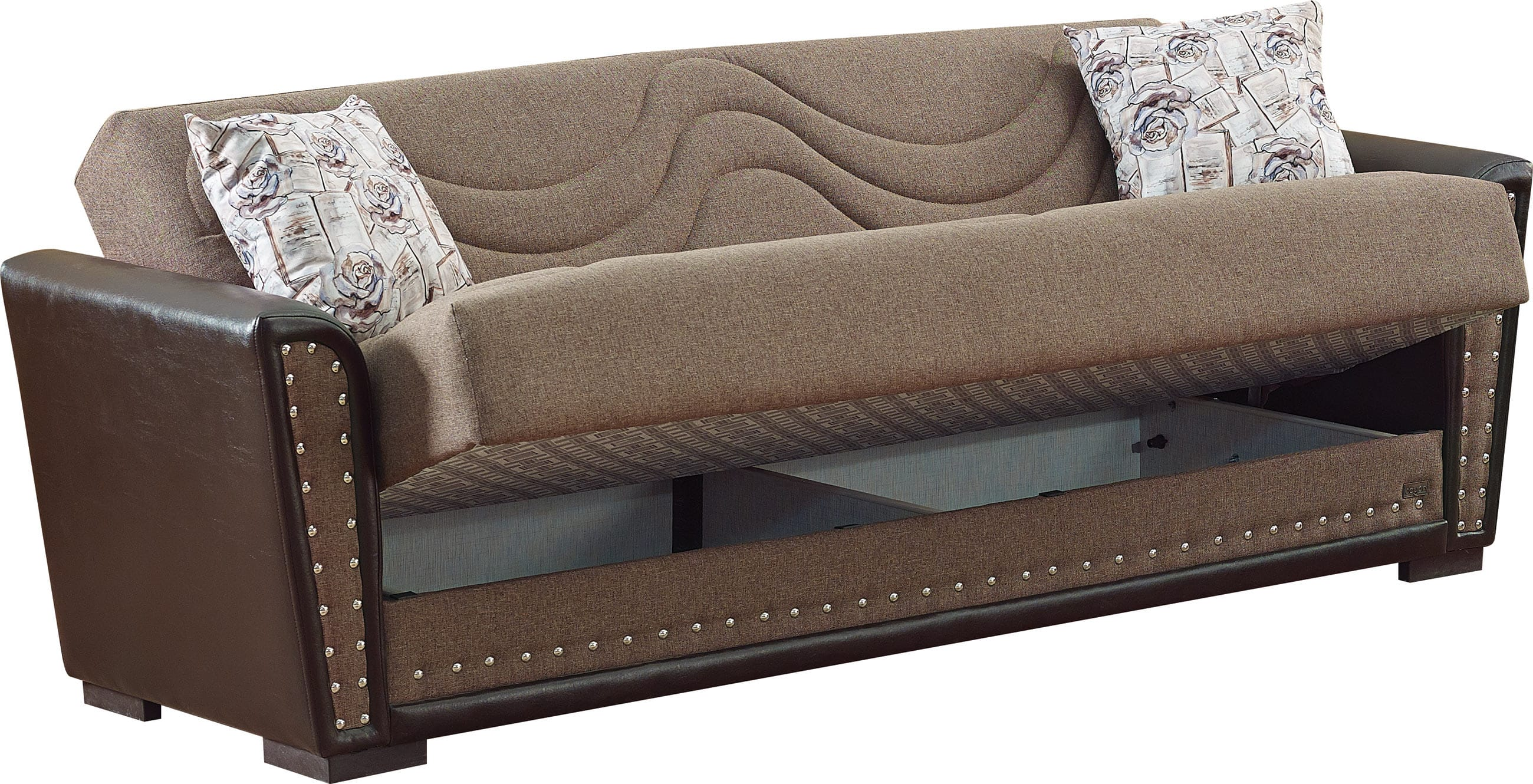 sectional sofa bed in toronto short single brown fabric by empire furniture usa