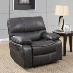 Leather Sofa Furniture Stores Nyc Make Your Own U0040 Grey Black Glider Reclining Chair By Global