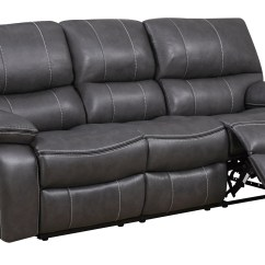 Gray Leather Sofa Recliner Restoration Company U0040 Grey Black Air Reclining By Global
