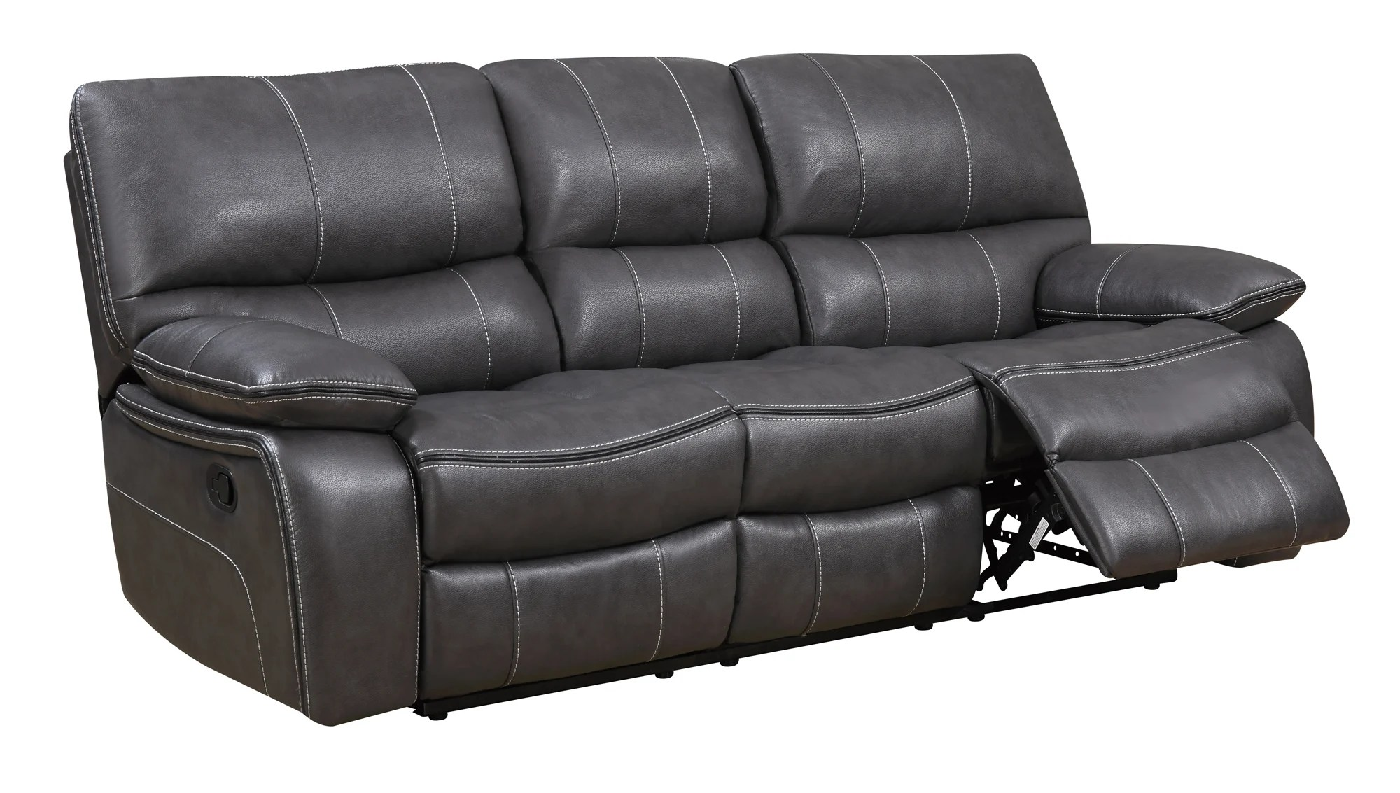 leather sofa furniture stores nyc bed fold down table u0040 grey black air reclining by global