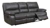 U0040 Grey/Black Leather Air Reclining Sofa by Global ...