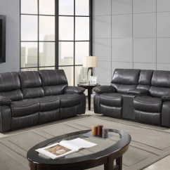 Glider Recliner Chair Target Spider Web U0040 Grey/black Leather Air Reclining Sofa By Global Furniture