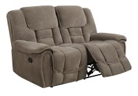 U101 Taupe Fabric Reclining Loveseat by Global Furniture