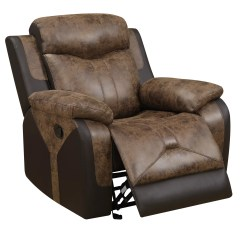 Glider Recliner Chair Outdoor Folding Chairs Kmart U2015 Chocolate Vinyl Reclining By Global