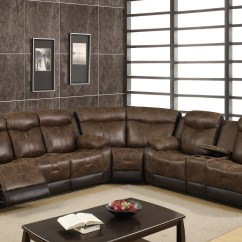 Vinyl Sectional Sofa Candice Olson U2015 Chocolate By Global Furniture