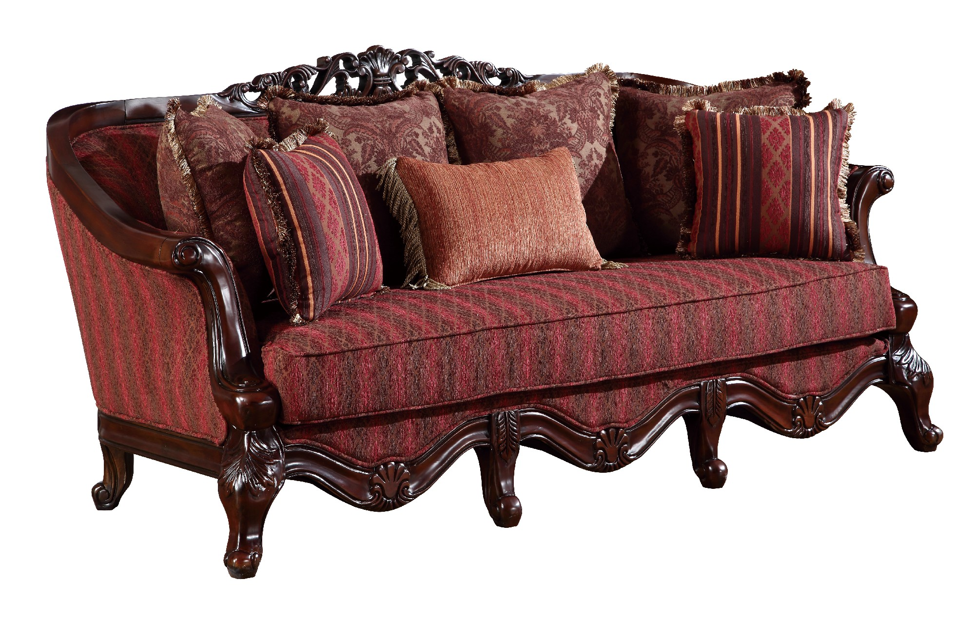 solid wood sofa set shops near me u2300 red fabric by global furniture