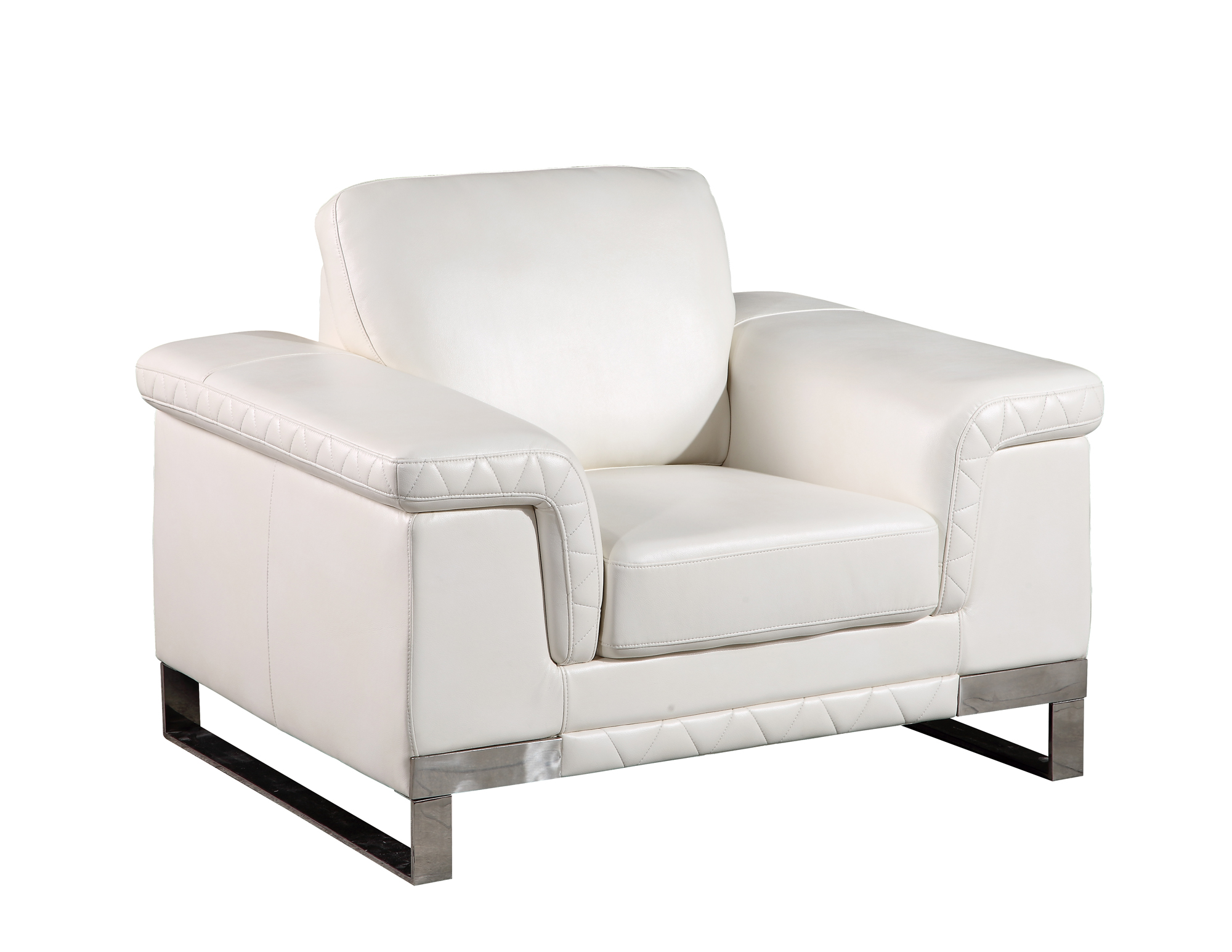 White Leather Chairs U7660 White Leather Gel Chair By Global Furniture