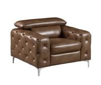 U8050 Walnut Leather Gel Chair by Global Furniture