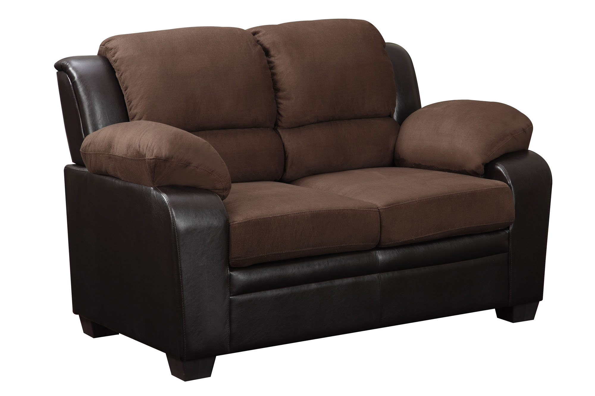 leather sofa furniture stores nyc fabric designs u880018kd chocolate microfiber loveseat by global