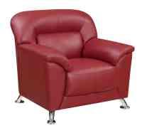 U9102 Red Vinyl Chair by Global Furniture