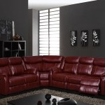 U9303 Burgundy Pu Sectional Sofa By Global Furniture