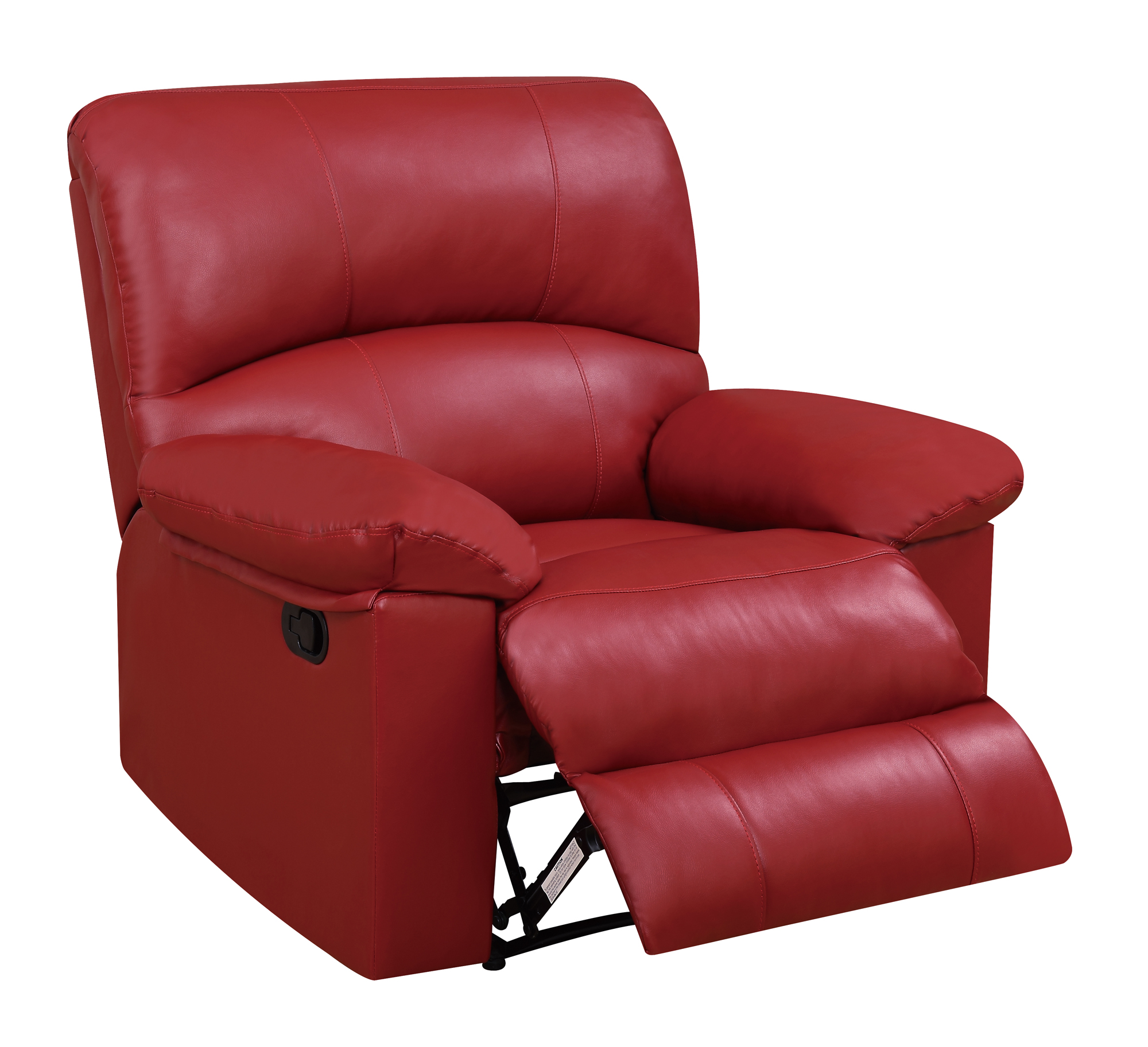red recliner chairs kmart outdoor u99270 pu glider reclining chair by global furniture