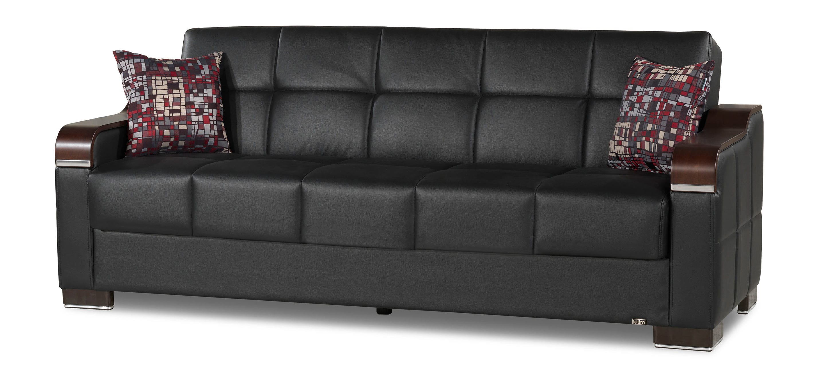 convertible sofa beds new york air lounger bed uptown black pu by casamode