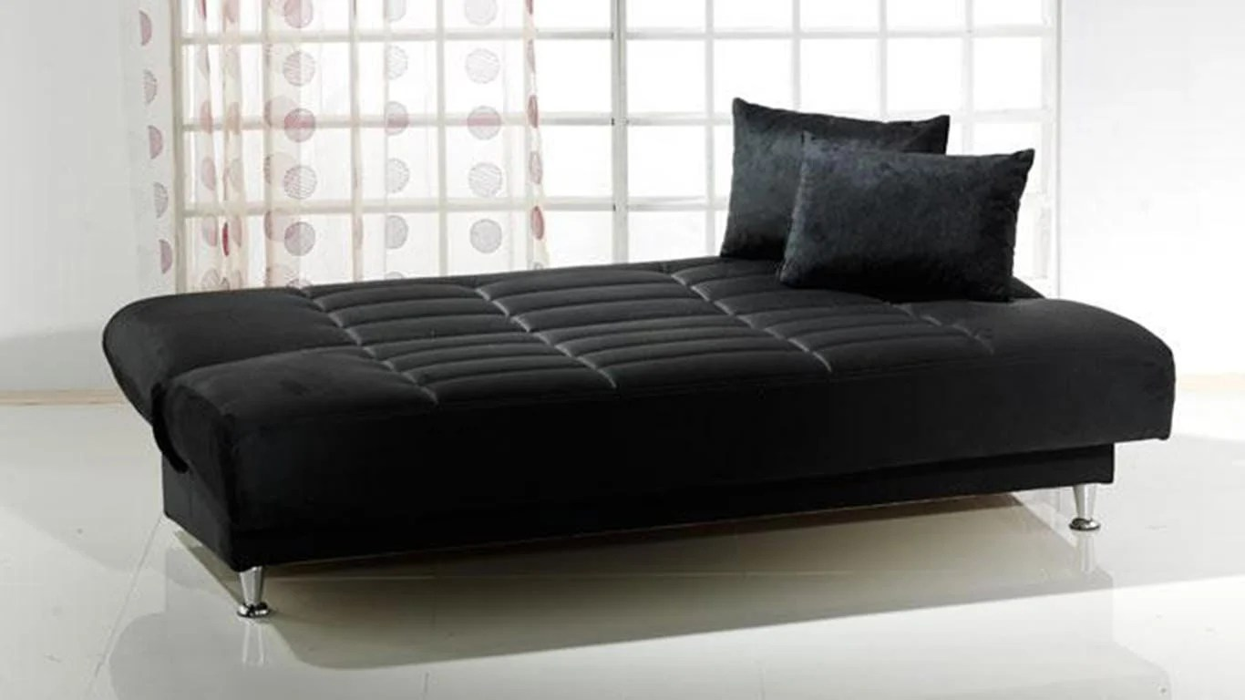 atherton home soho convertible futon sofa bed and lounger leather recliner uk black contemporary