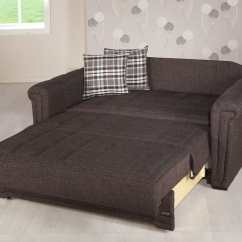Modern Sleeper Sofa Bed Mattress Small Sectional Sizes Victoria Andre Dark Brown Loveseat By Istikbal ...