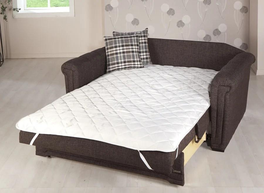 best mattress pad for sleeper sofa leather sofas york region victoria andre dark brown loveseat by sunset