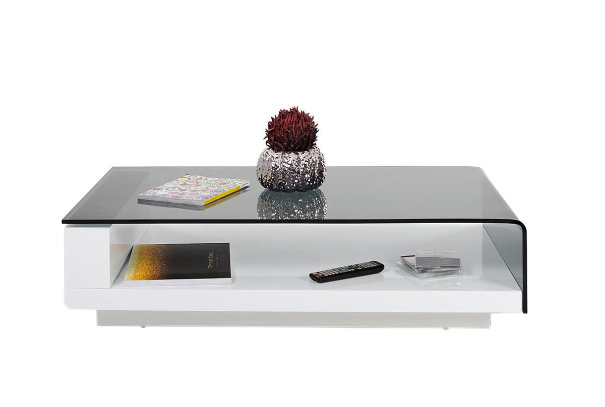 modrest tide modern glass coffee table by vig furniture