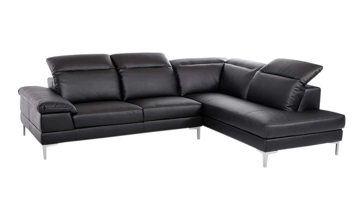 Divani Casa Carnation Modern Black Eco Leather Sectional Sofa By Vig Furniture
