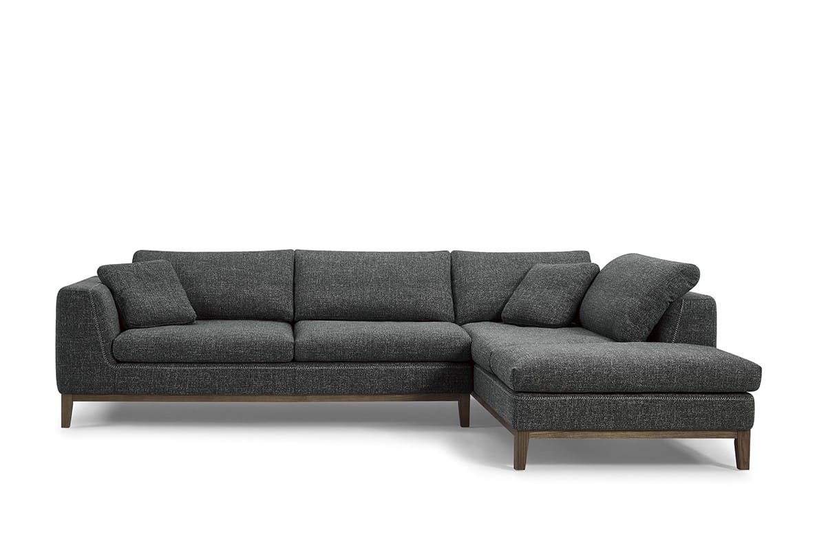 divani casa hickman modern dark grey fabric sectional sofa by vig furniture