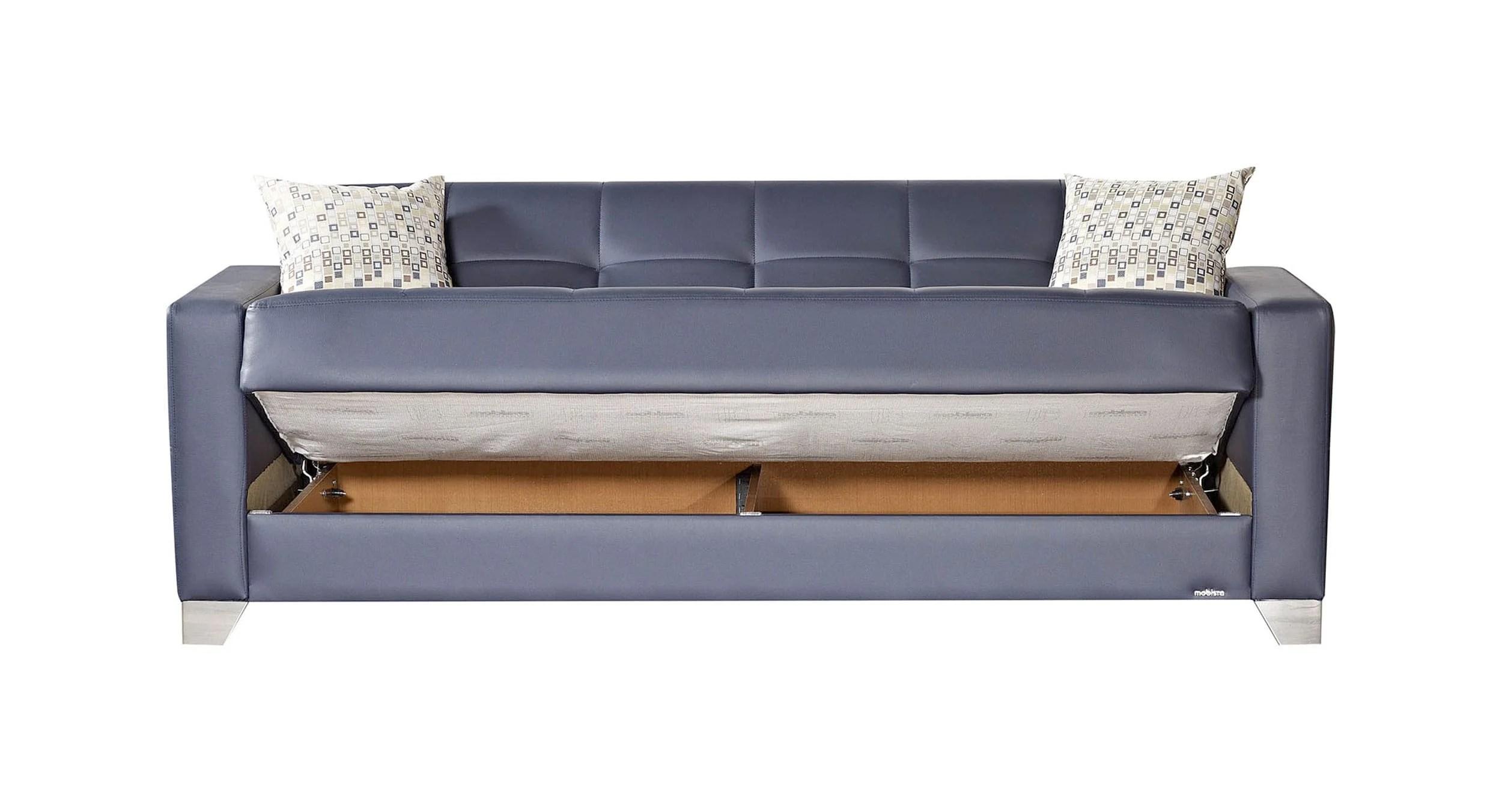 leatherette sofa durability diy slipcover for sectional viva italia prestige navy blue bed by mobista