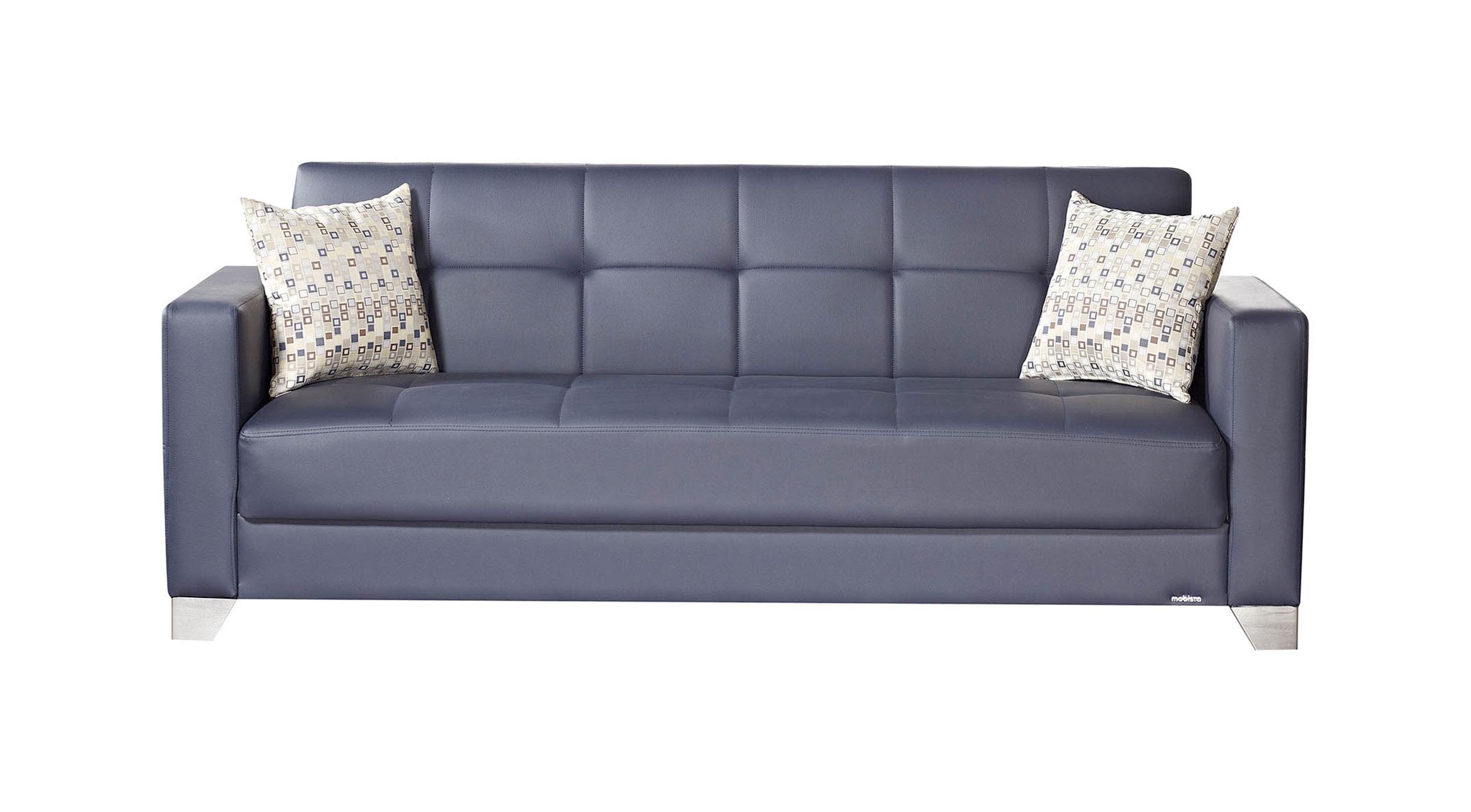 leatherette sofa durability design sets hyderabad telangana viva italia prestige navy blue bed by mobista