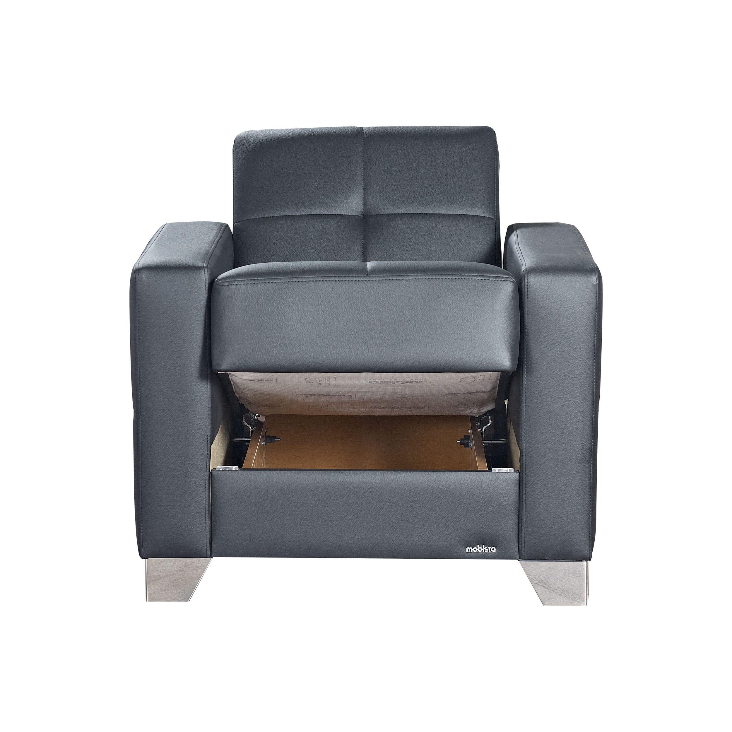 leatherette sofa durability manufacturers bristol viva italia prestige black armchair by mobista