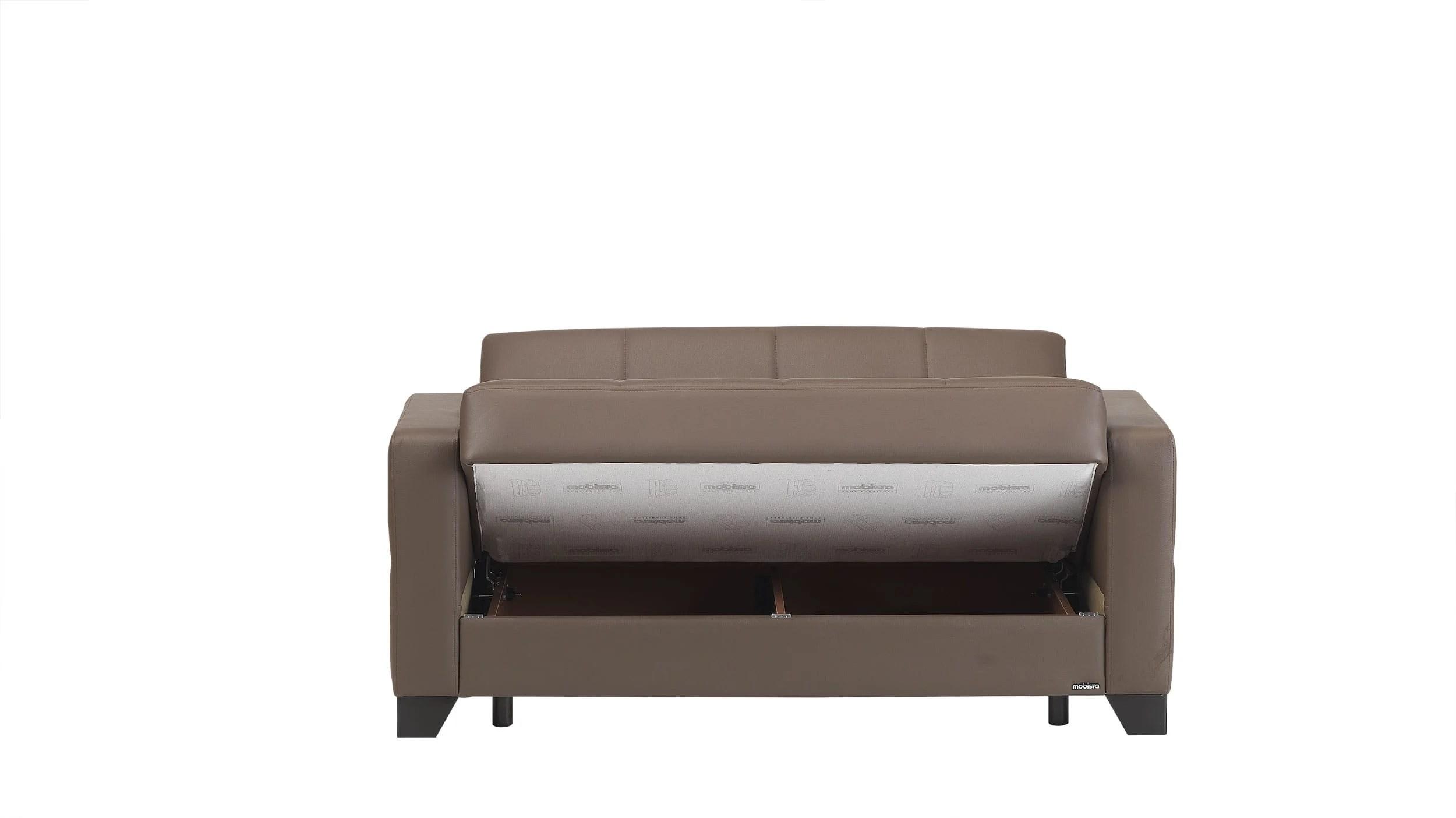 leatherette sofa durability highest rated sleeper viva italia prestige brown loveseat bed by mobista