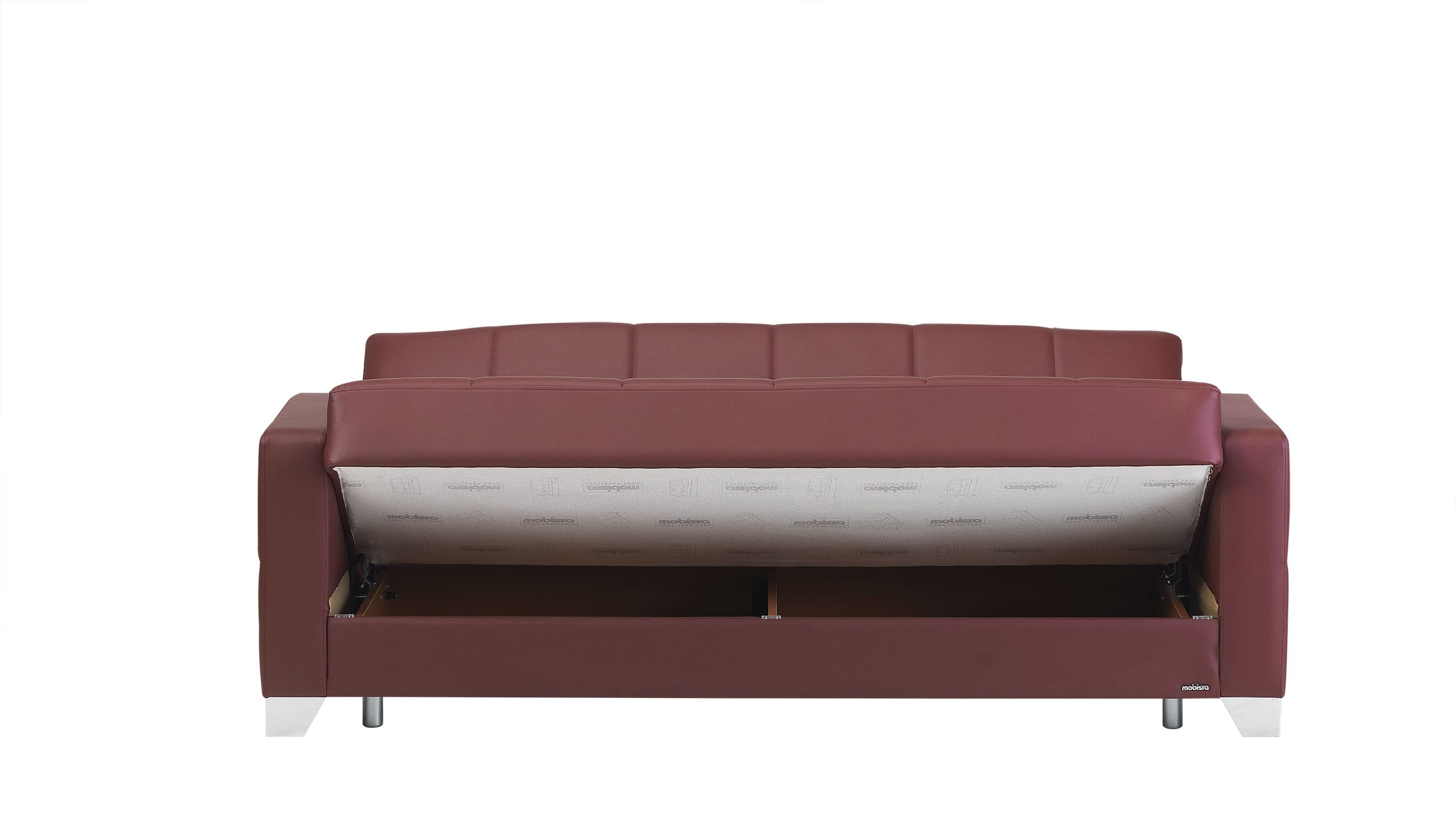 leatherette sofa cool sets bed dark brown faux leather storage