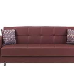 Leatherette Sofa Leather Sofas Sacramento Bed Dark Brown Futon