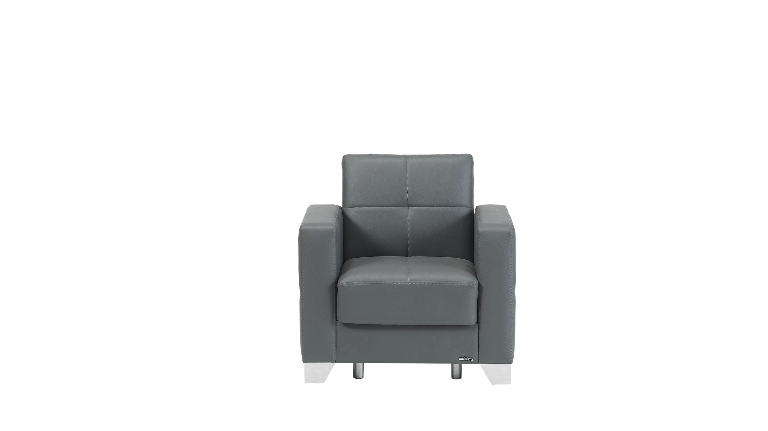 leatherette sofa durability mart cloud reviews viva italia prestige dark gray armchair by mobista