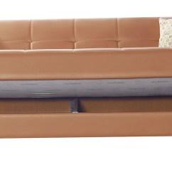 Leatherette Sofa Durability Braxton Modern Modular Sectional Viva Italia Prestige Orange Bed By Mobista