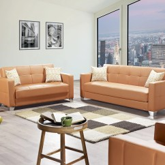 Leatherette Sofa Durability Toledo Viva Italia Prestige Orange Bed By Mobista