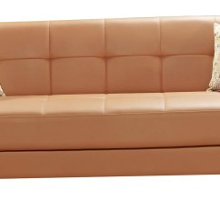 Orange And Black Sofa Bed Red Contemporary Set Leatherette Oliver Modern