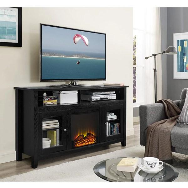 Wasatch 58 Highboy Fireplace Tv Stand - Black