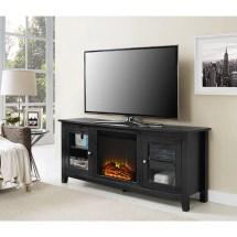 Wasatch 58 Fireplace Tv Console - Black Walker Edison