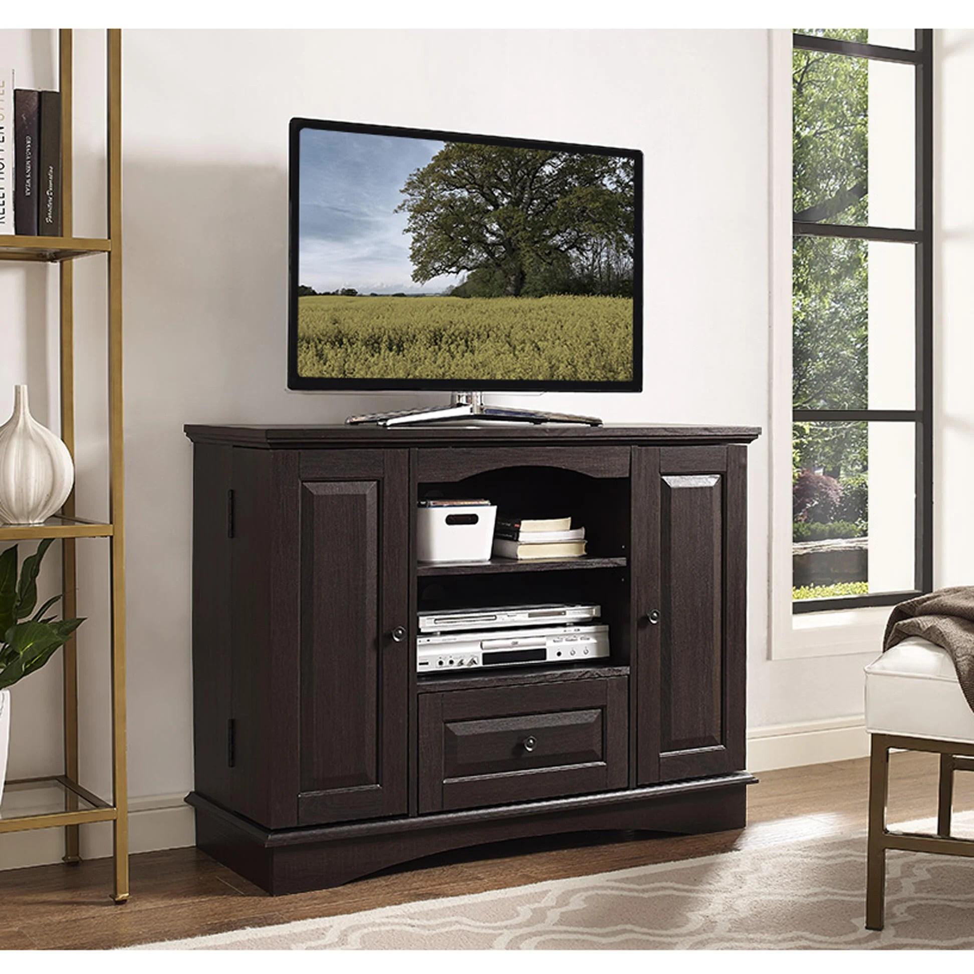 42 Inch Espresso Wood Highboy TV Stand by Walker Edison