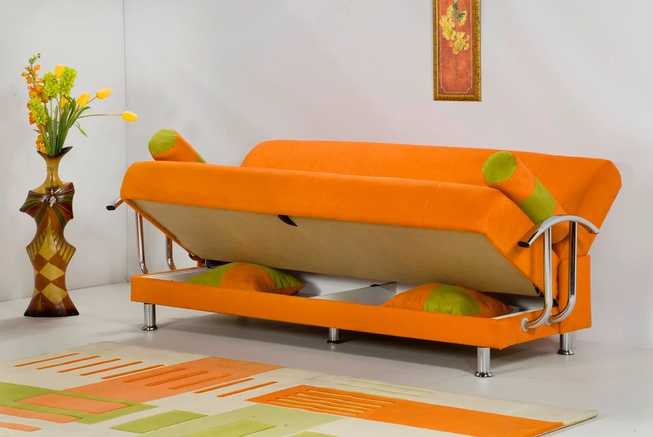 orange sofa bed how to deep clean microfiber brenda by kilim